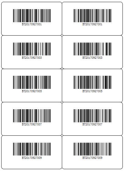 如何在BarTender中打印双列流水号标签?