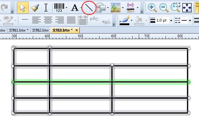 如何在BarTender标签中制作表格?